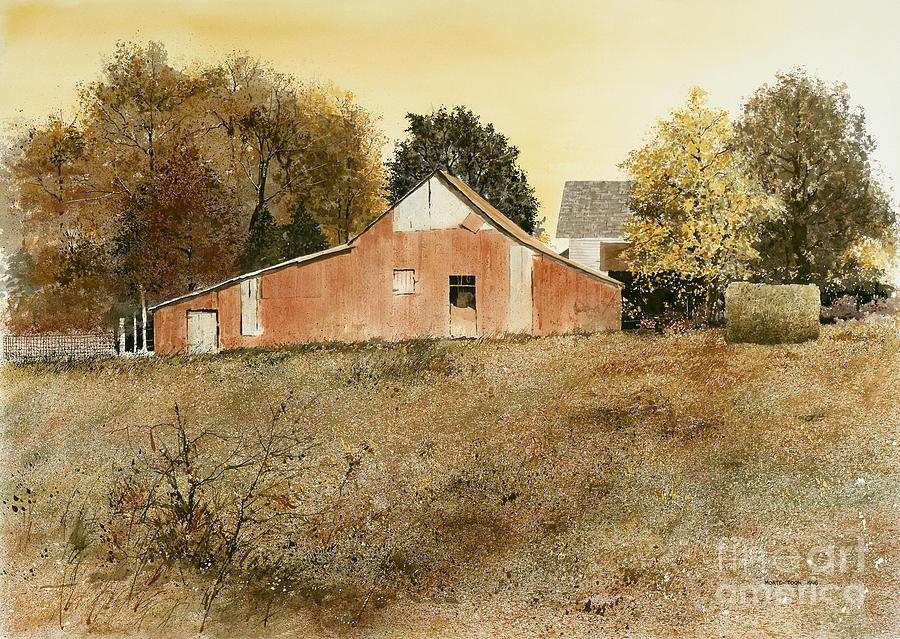 Arkansas Painting - Autumn Glow by Monte Toon