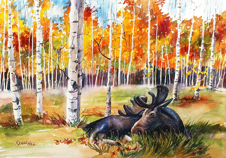 Autumn Grazing Painting By Renae Hill