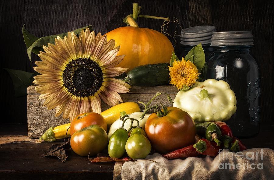 Vegetables Photograph - Autumn Harvest by Edward Fielding