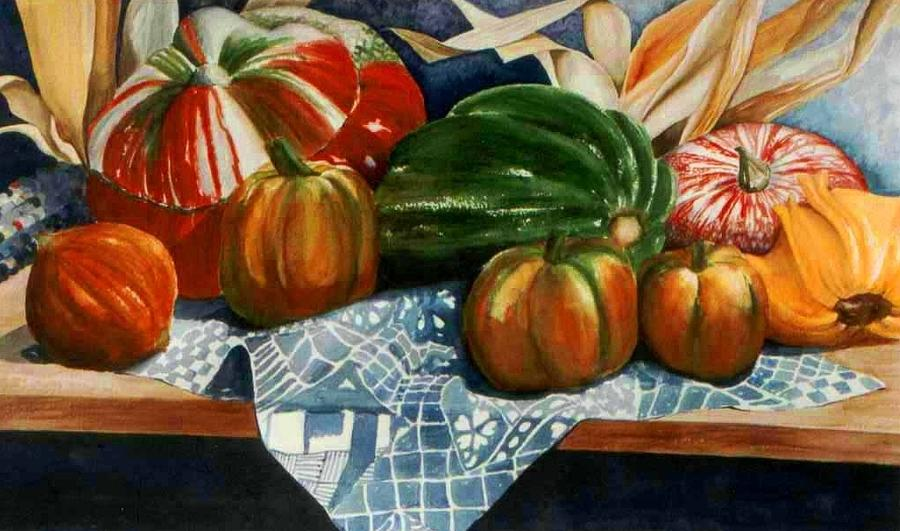Autumn Harvest Painting by Eve Riser Roberts