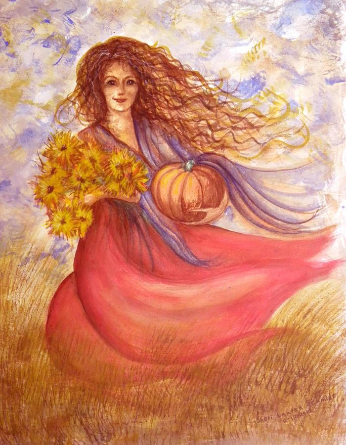 Harvest Painting - Autumn Harvest by Sheri Lauren Schmidt