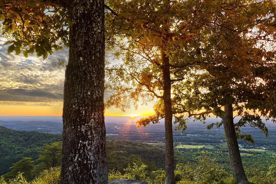 Appalachia Photograph - Autumn Highlights by Debra and Dave Vanderlaan