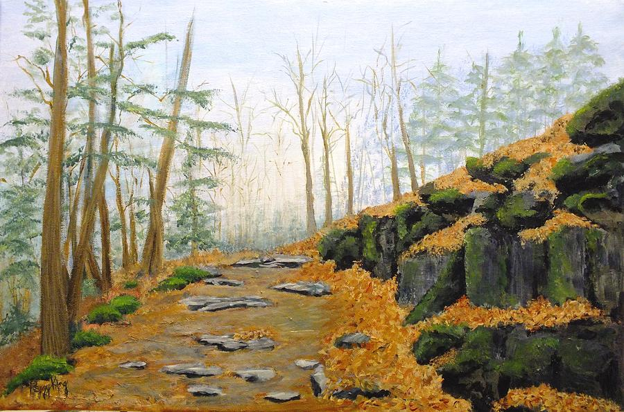 Nature Painting - Autumn Hike by Peggy King