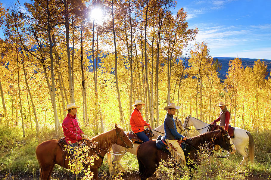 Autumn Horseback Riding Photograph by Amygdala imagery