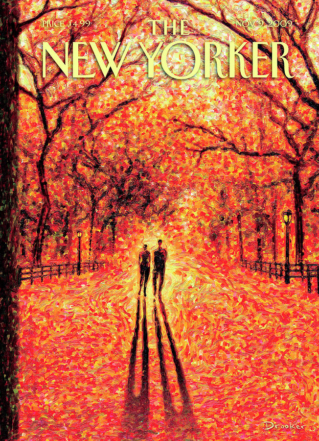 Autumn In Central Park Painting by Eric Drooker