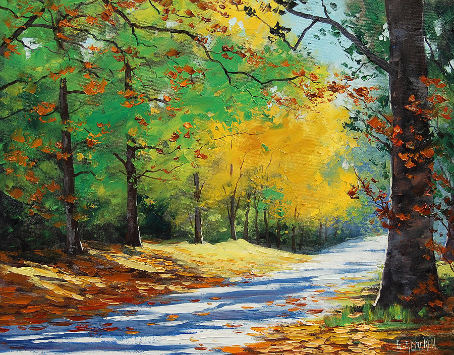 Fall Painting - Autumn In Mt Wilson by Graham Gercken