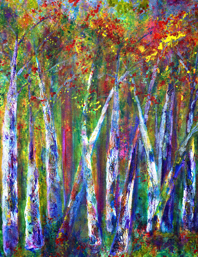 Claire Bull Painting - Autumn In Muskoka by Claire Bull