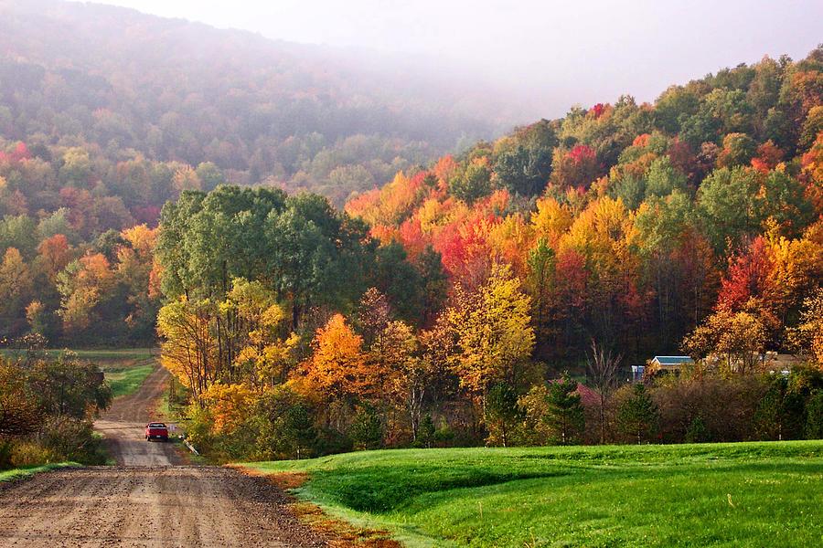 Landscape Photograph - Autumn In New York by Gary Benson