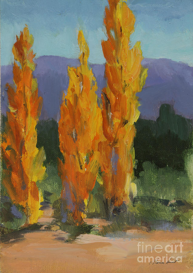 Walking the Wash In Sante Fe by Maria Hunt