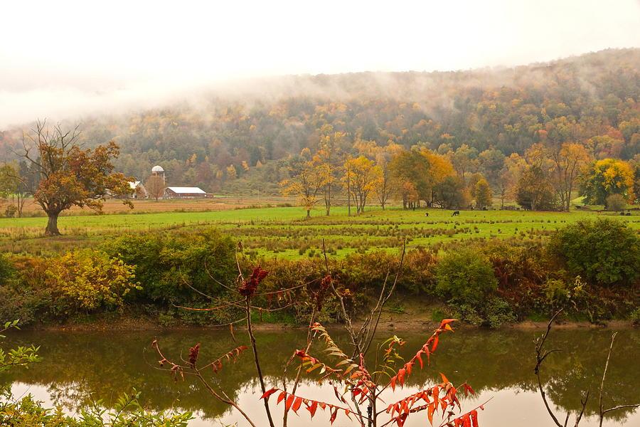 Unadilla Photograph - Autumn In The Butternut Valley-six by Byron Varvarigos