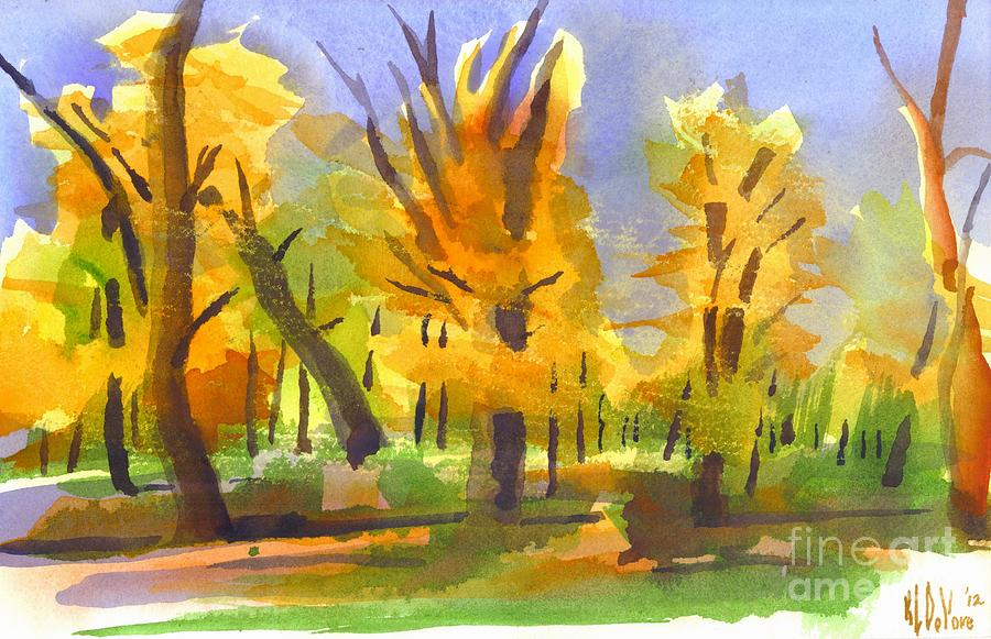 Autumn Painting - Autumn In The Forest by Kip DeVore