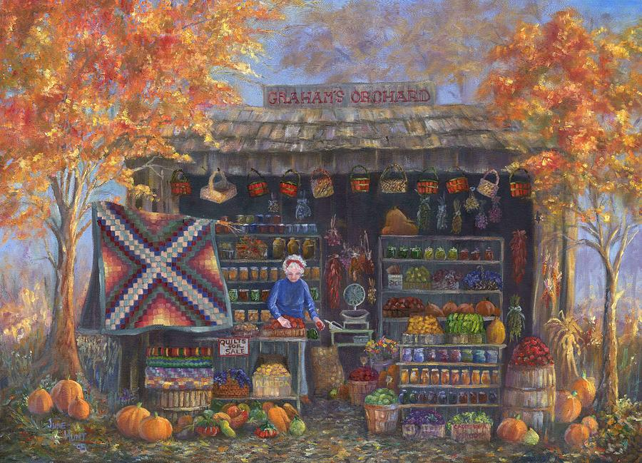 Landscape Painting - Autumn In The Ozarks by June Hunt