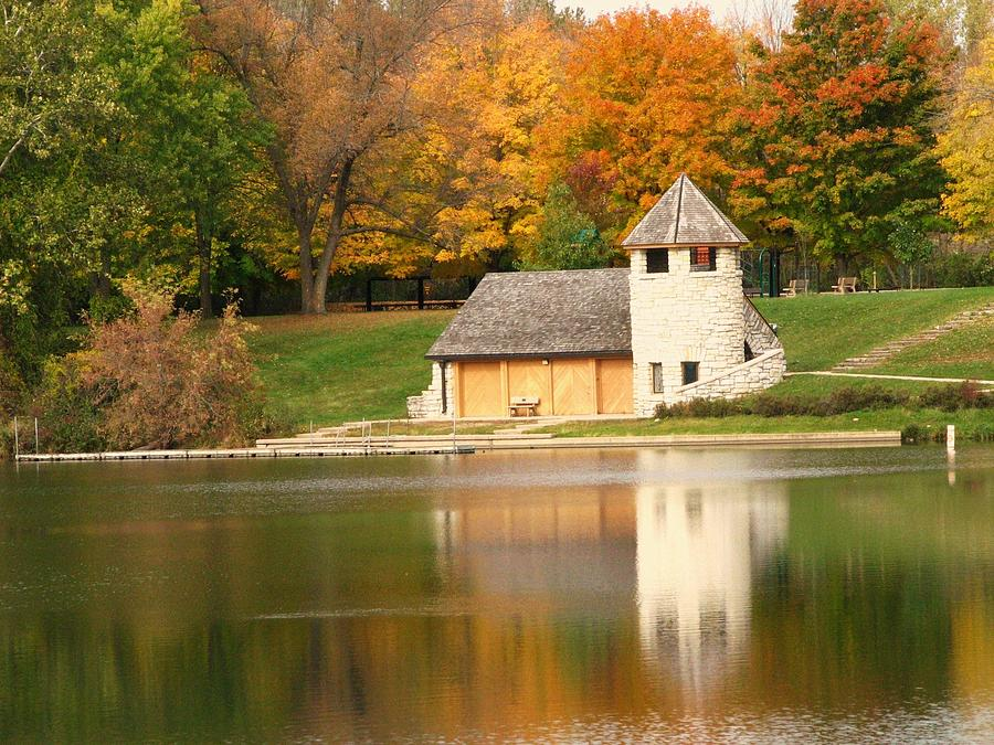 Reflections Photograph - Autumn In The Park by Lori Frisch