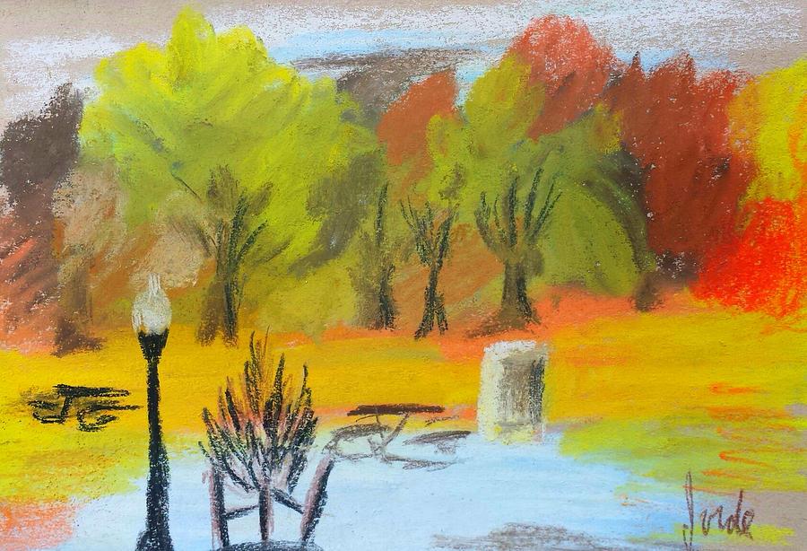 Landscape Pastel - Autumn In The Park by Steve Jorde
