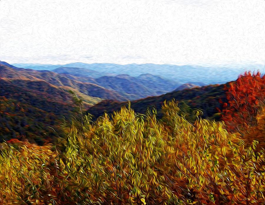 Autumn Digital Art - Autumn In The Smokey Mountains by Phil Perkins