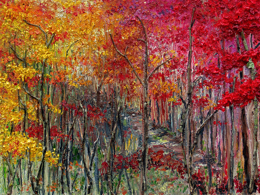Autumn Painting - Autumn In The Woods by Karin  Dawn Kelshall- Best