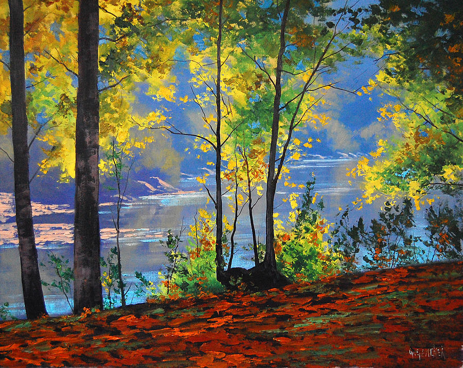 River Painting - Autumn in Tumut by Graham Gercken