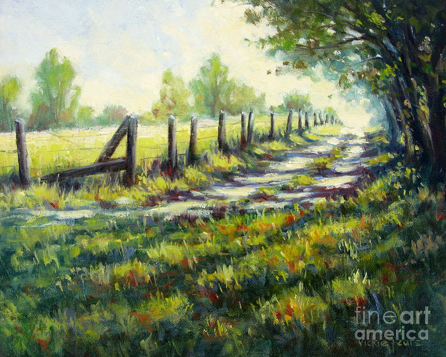 Autumn Painting - Autumn Is Coming by Vickie Fears