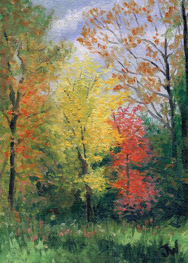 Trees Painting - Autumn by Joe Winkler