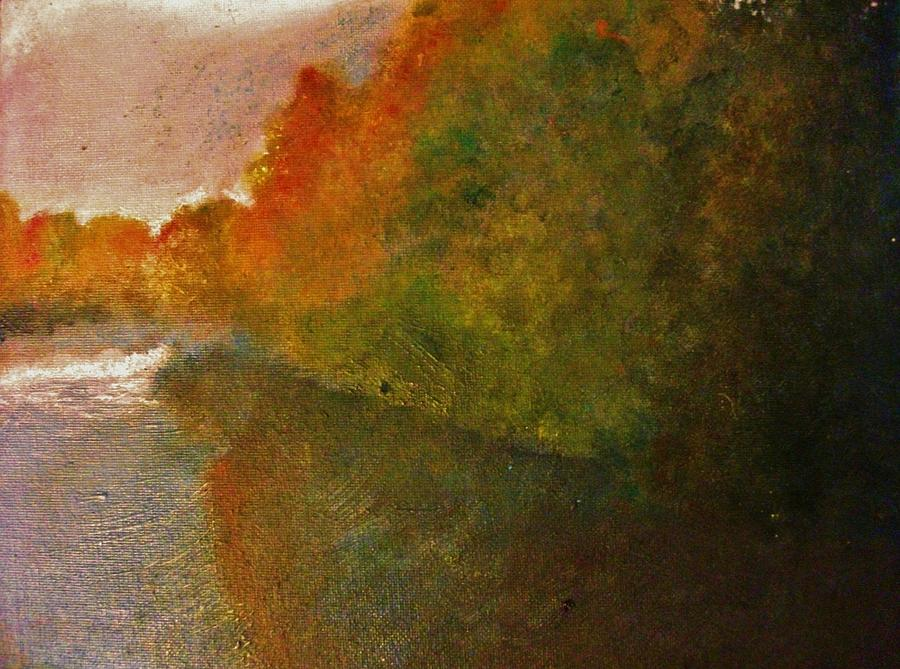Autumn Painting - Autumn Lake View  by Crystal  Menicola