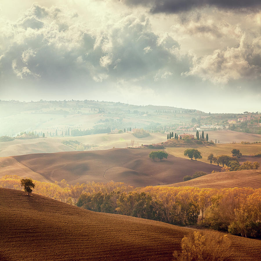 Autumn Landscape In Tuscany Photograph by Mammuth