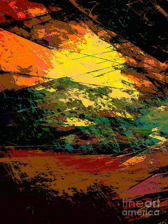 Abstract Digital Art - Autumn Landscape by Klara Acel