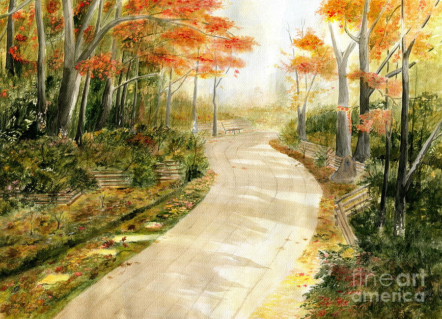 Autumn Painting - Autumn Lane by Melly Terpening