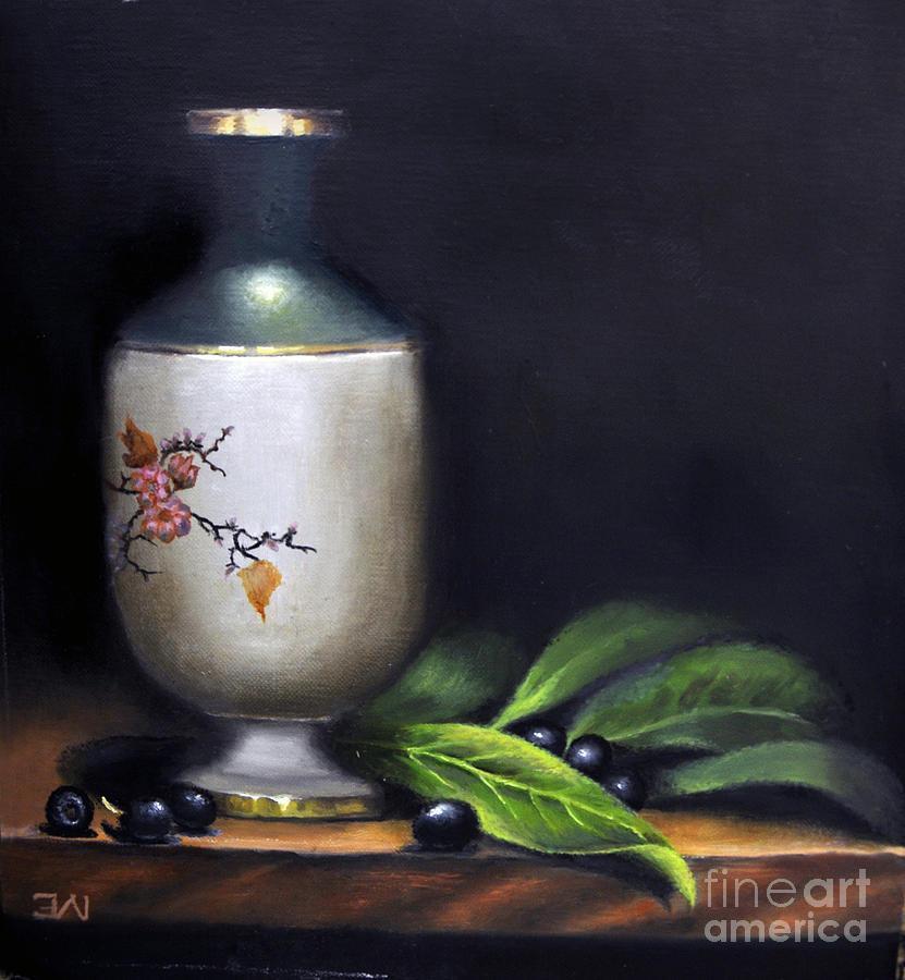 Autumn Painting - Autumn Laurel Berries by Elizabeth Williams