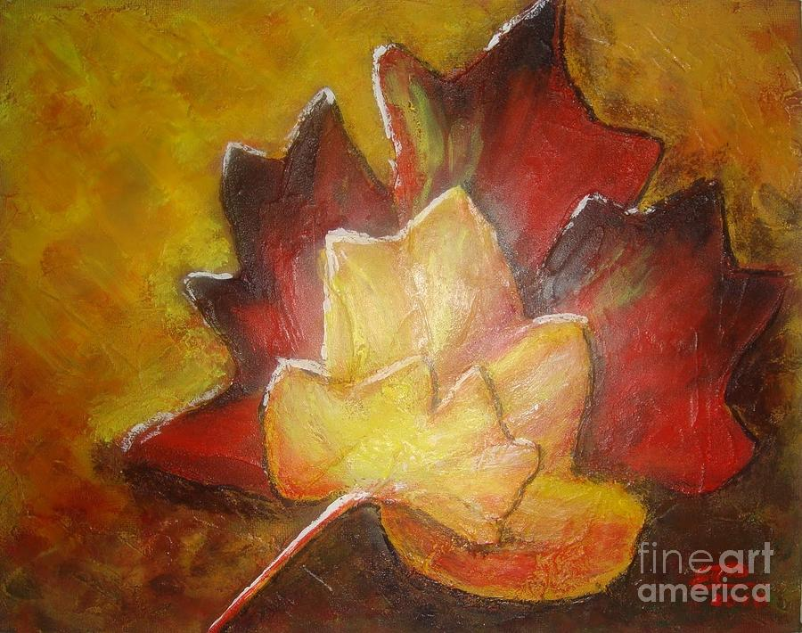 Leaves Painting - Autumn Leaves 2 by Elena  Constantinescu