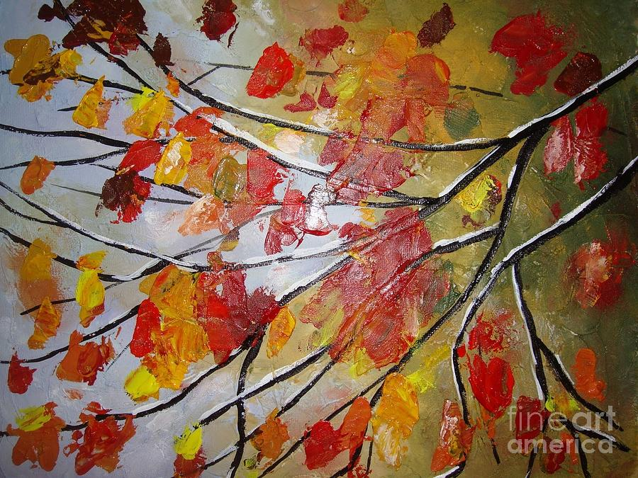 Leaves Painting - Autumn Leaves by Elena  Constantinescu