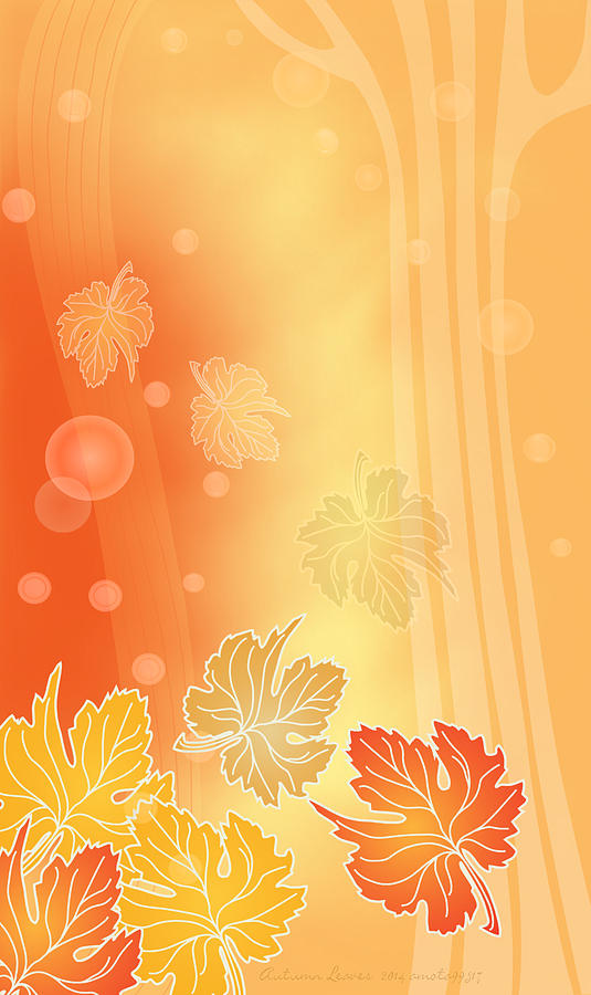 Autumn Leaves Digital Art - Autumn Leaves by Gayle Odsather