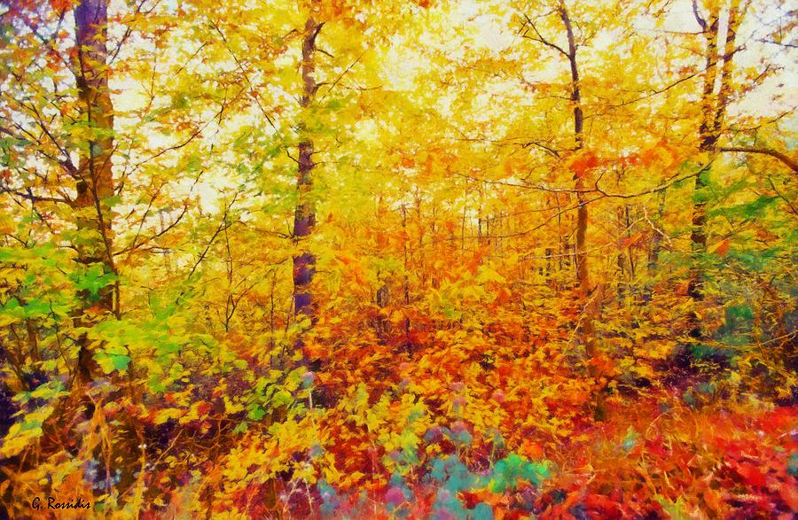 Autumn Leaves Painting - Autumn Leaves by George Rossidis