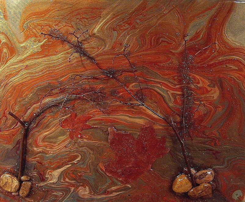Acrylic Painting - Autumn Leaves by Patrick Mock
