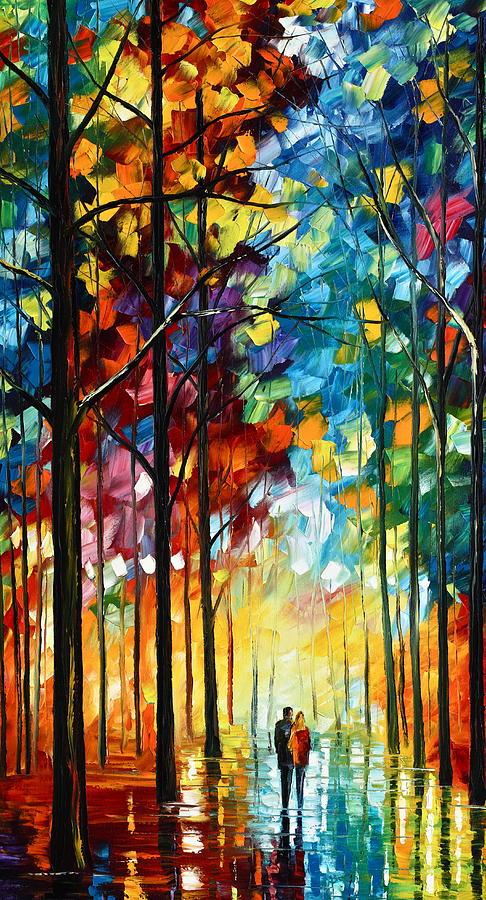 Landscape Painting - Autumn Light by Leonid Afremov