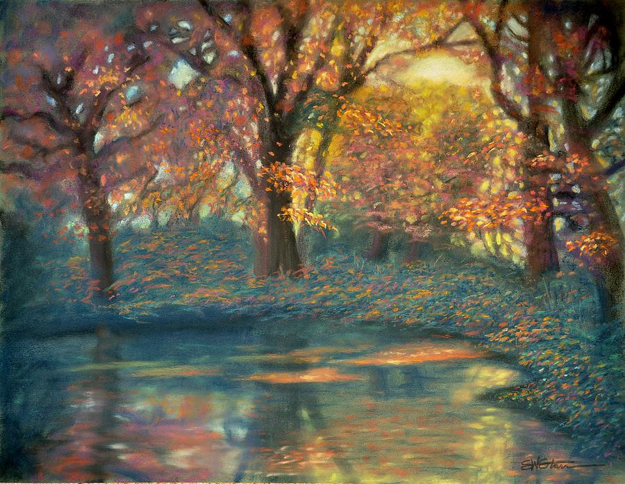 Trees Pastel - Autumn Light by Wade Starr