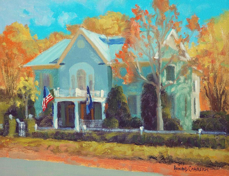 Inn At Little Washington Painting - Autumn Magic Claiborne House by Armand Cabrera