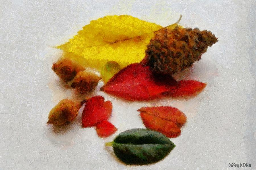 Acorn Painting - Autumn Medley by Jeffrey Kolker