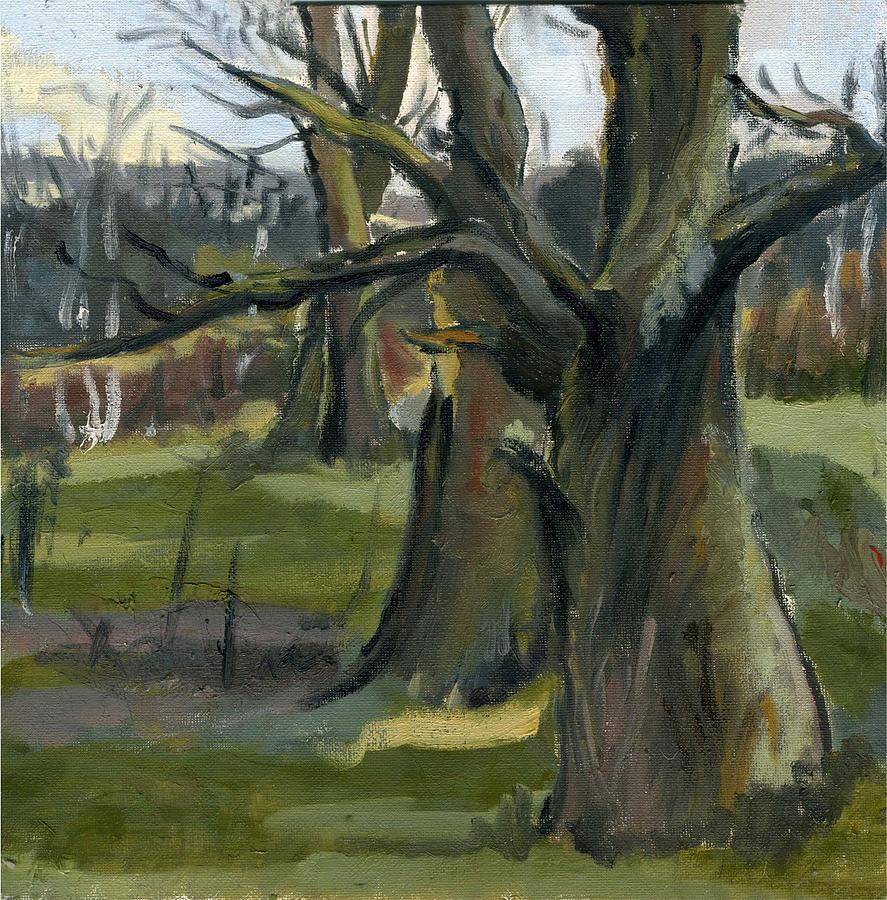 Nature Painting - Autumn Oaks by Lelia Sorokina