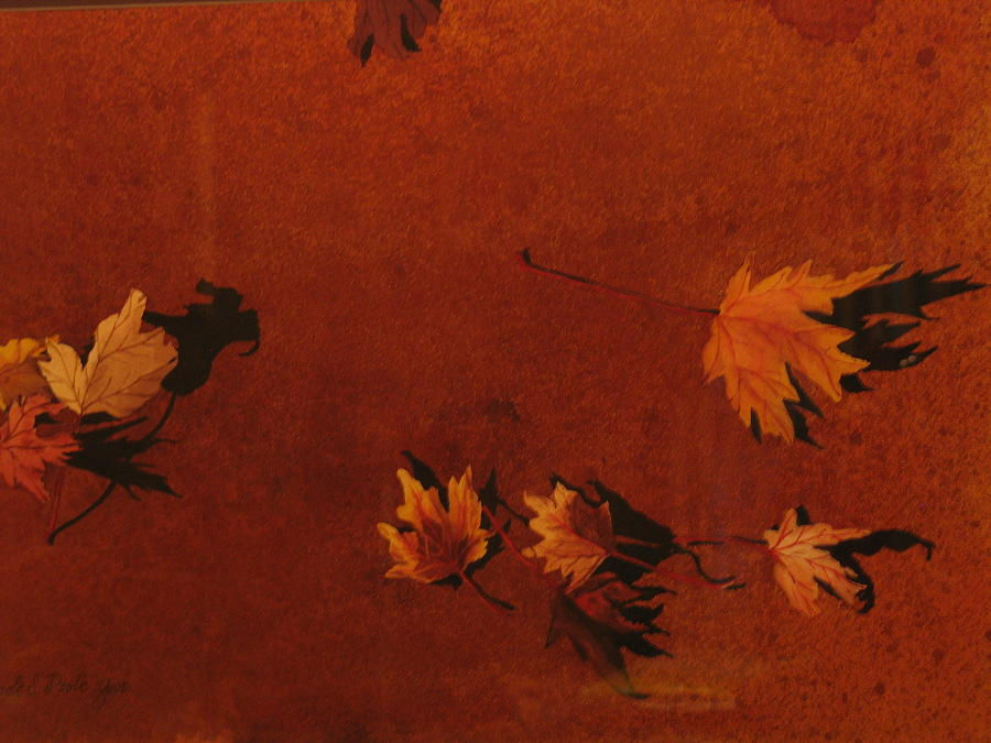 Leaves Painting - Autumn Offering by Carole Poole