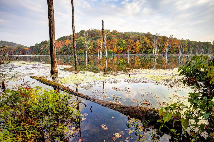 Reservoir Photograph - Autumn On Monksville Reservoir - Long Pond Ironworks by Gary Heller