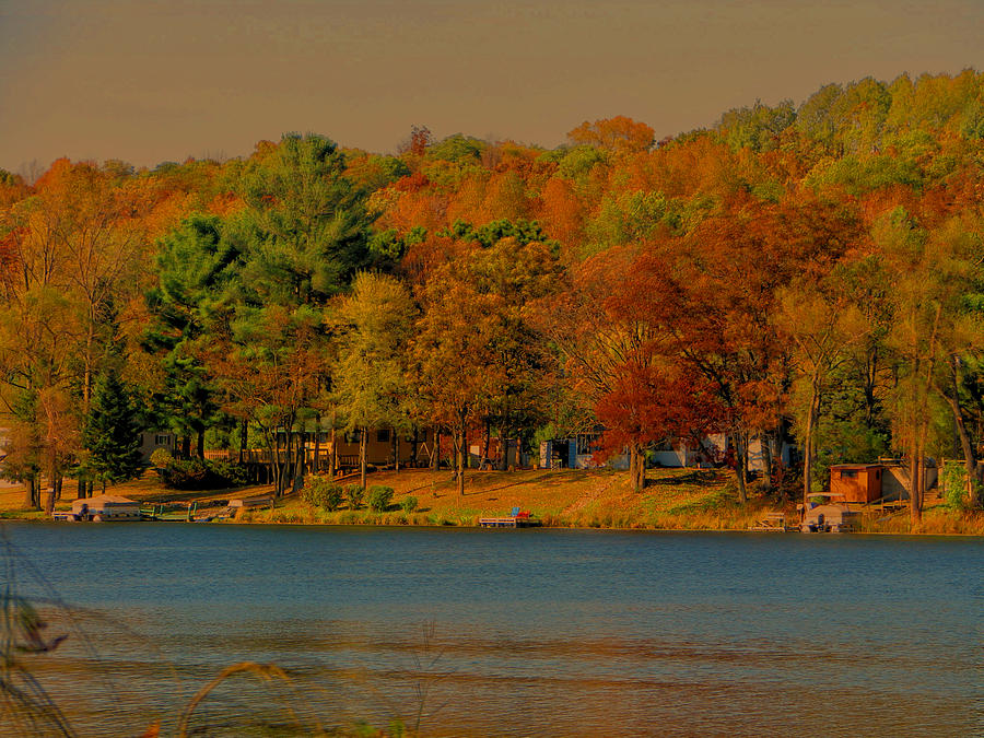Lake Photograph - Autumn On Mt Noris Lake by Victoria Sheldon