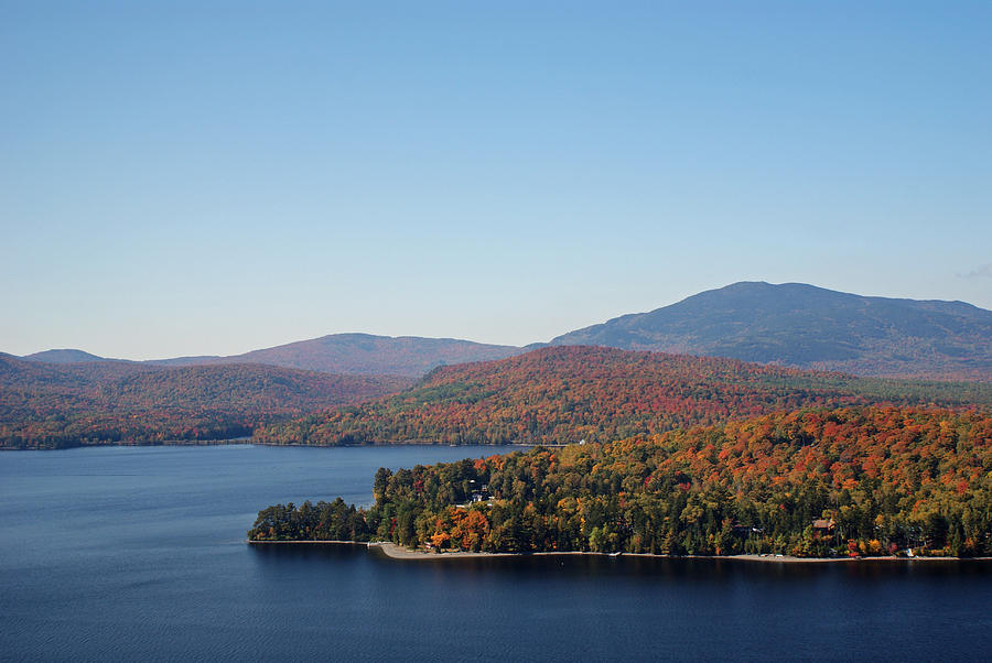 Autumn Over Moosehead Lake by Kristen Mohr