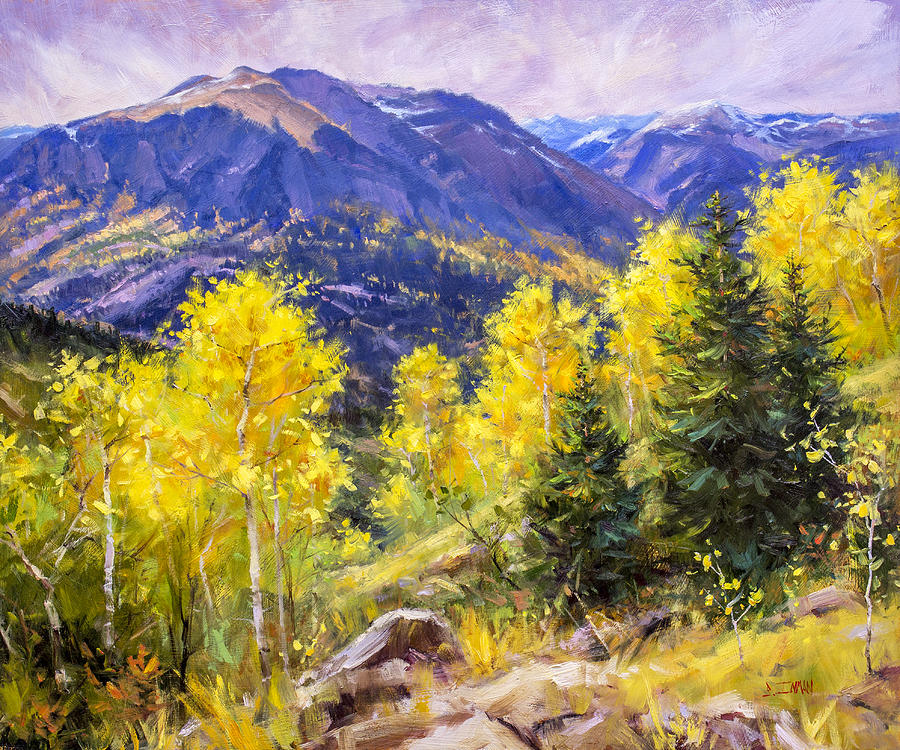 Beautiful Painting - Autumn Overlook by Bill Inman
