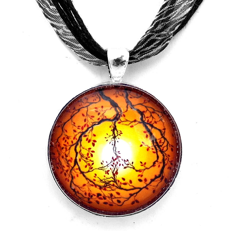Pendant Jewelry - Autumn Peace Handmade Pendant by Laura Iverson