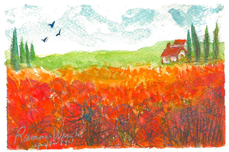 Red Painting - Autumn by Ramona Wright