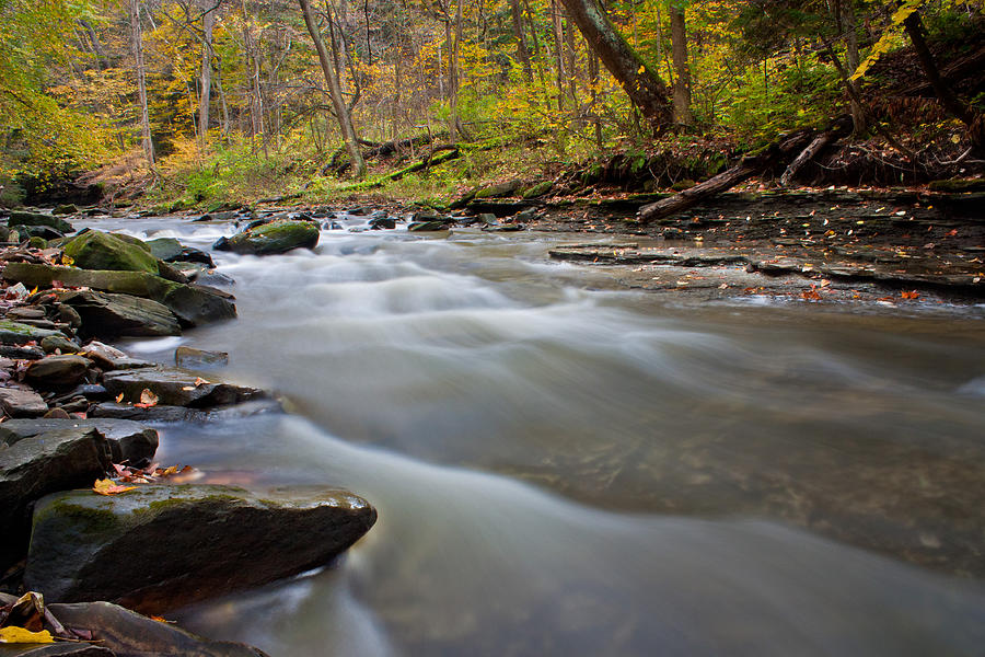 Brandywine Photograph - Autumn Rapids by Claus Siebenhaar