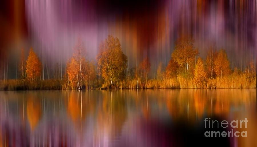 Autumn Reflection Photograph - Autumn Reflection Digital Photo Art by Heinz G Mielke