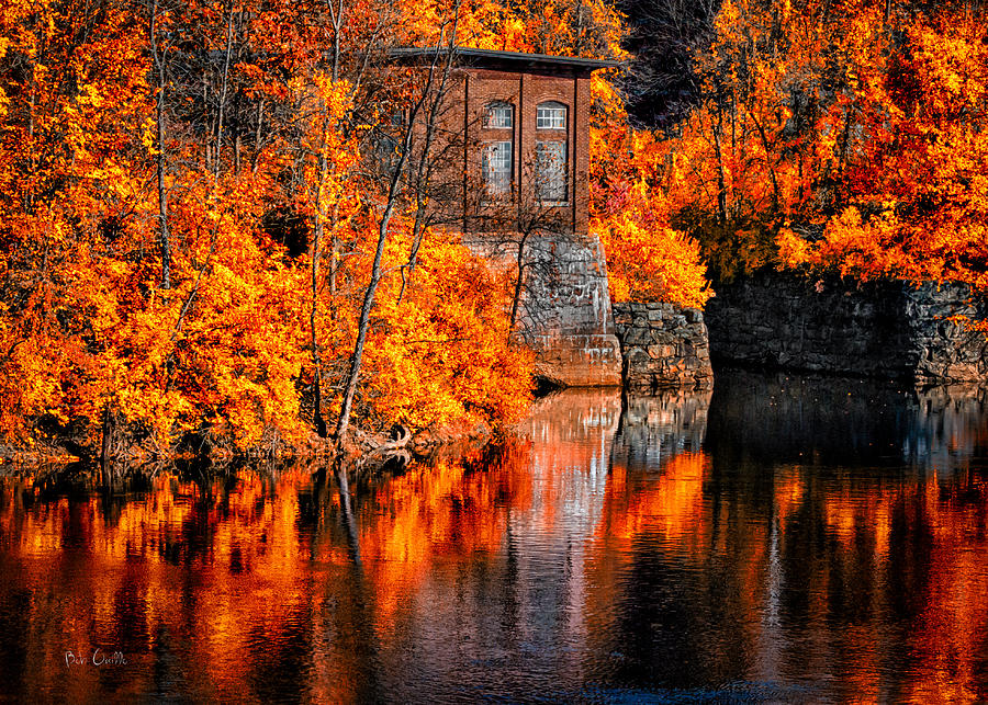 Auburn Photograph - Autumn Reflections  by Bob Orsillo