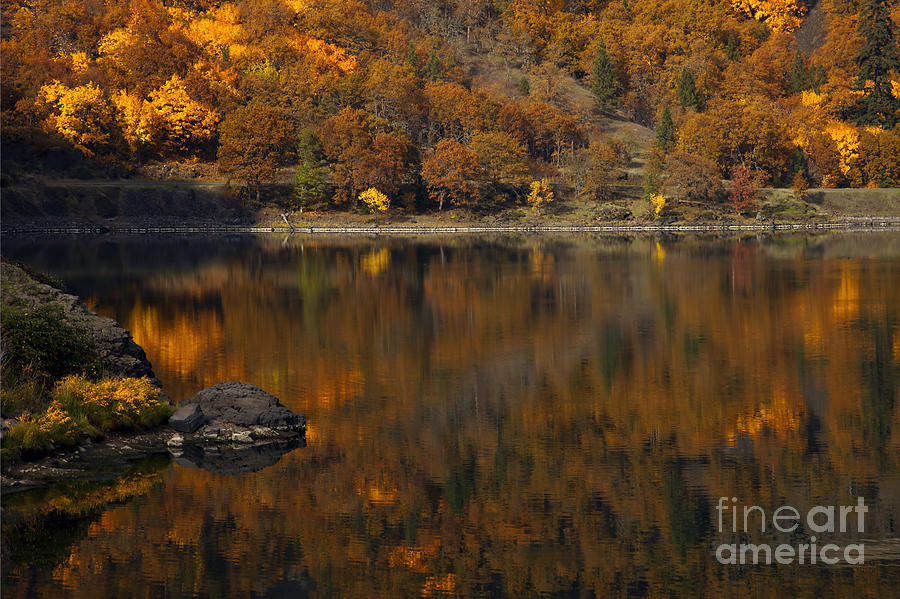 Lake Photograph - Autumn Reflections by Mike  Dawson