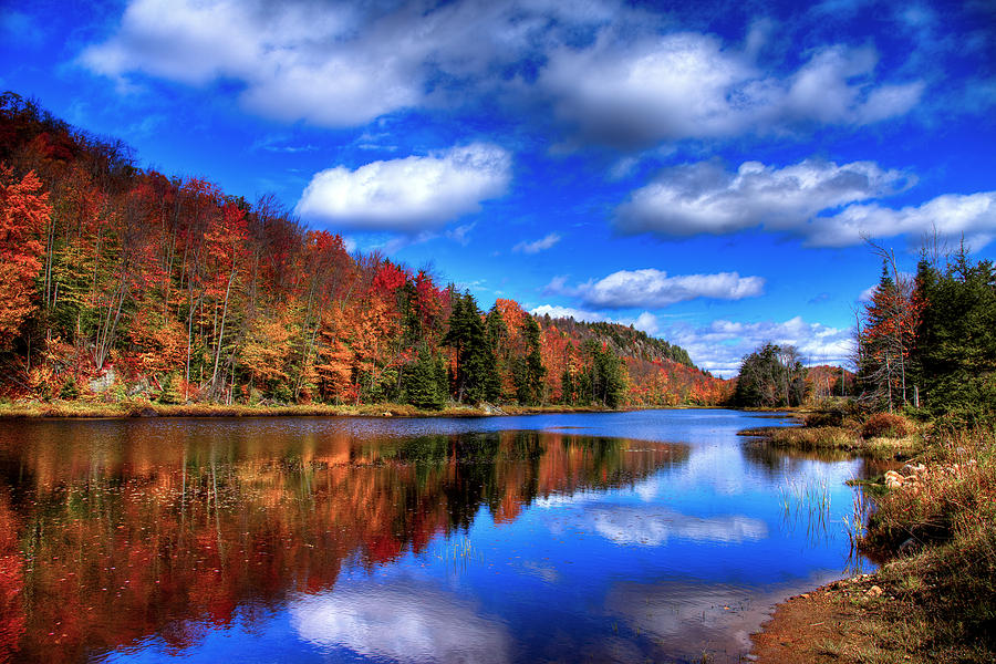 Autumn Reflections On Bald Mountain Pond Photograph by David Patterson